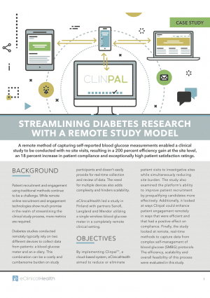 Streamlining Diabetes Research with a Remote Study Model